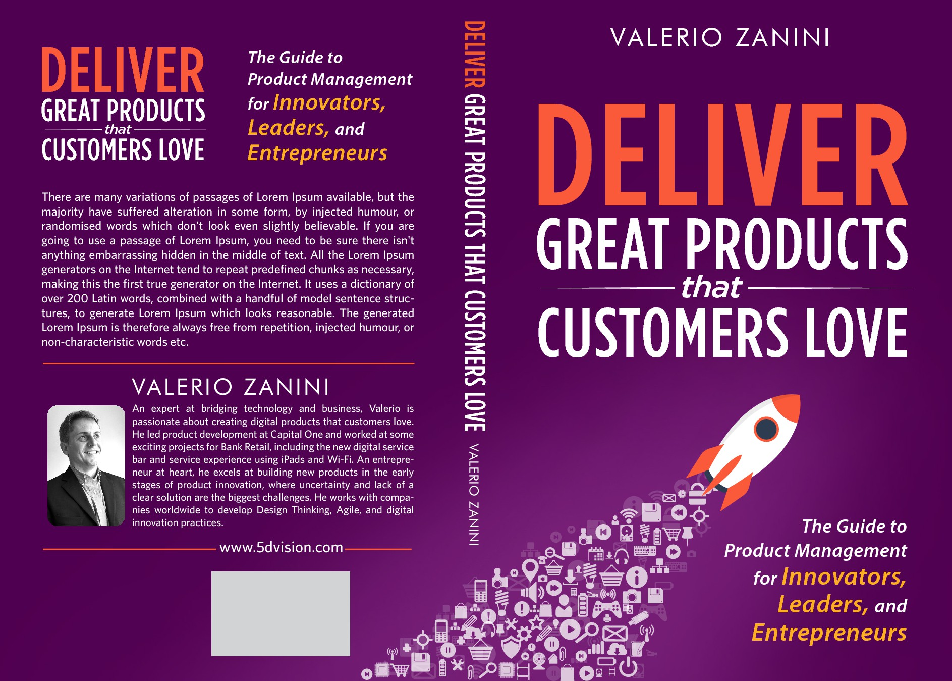 Create cover design for new book on digital innovation