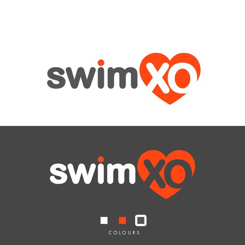 Swim XO logo design
