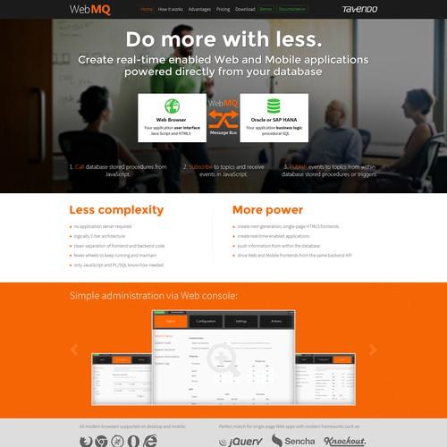 Slick website for software startup. We love Bauhaus and Katakana.