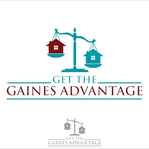 Create a classic real estate logo for The Gaines Advantage