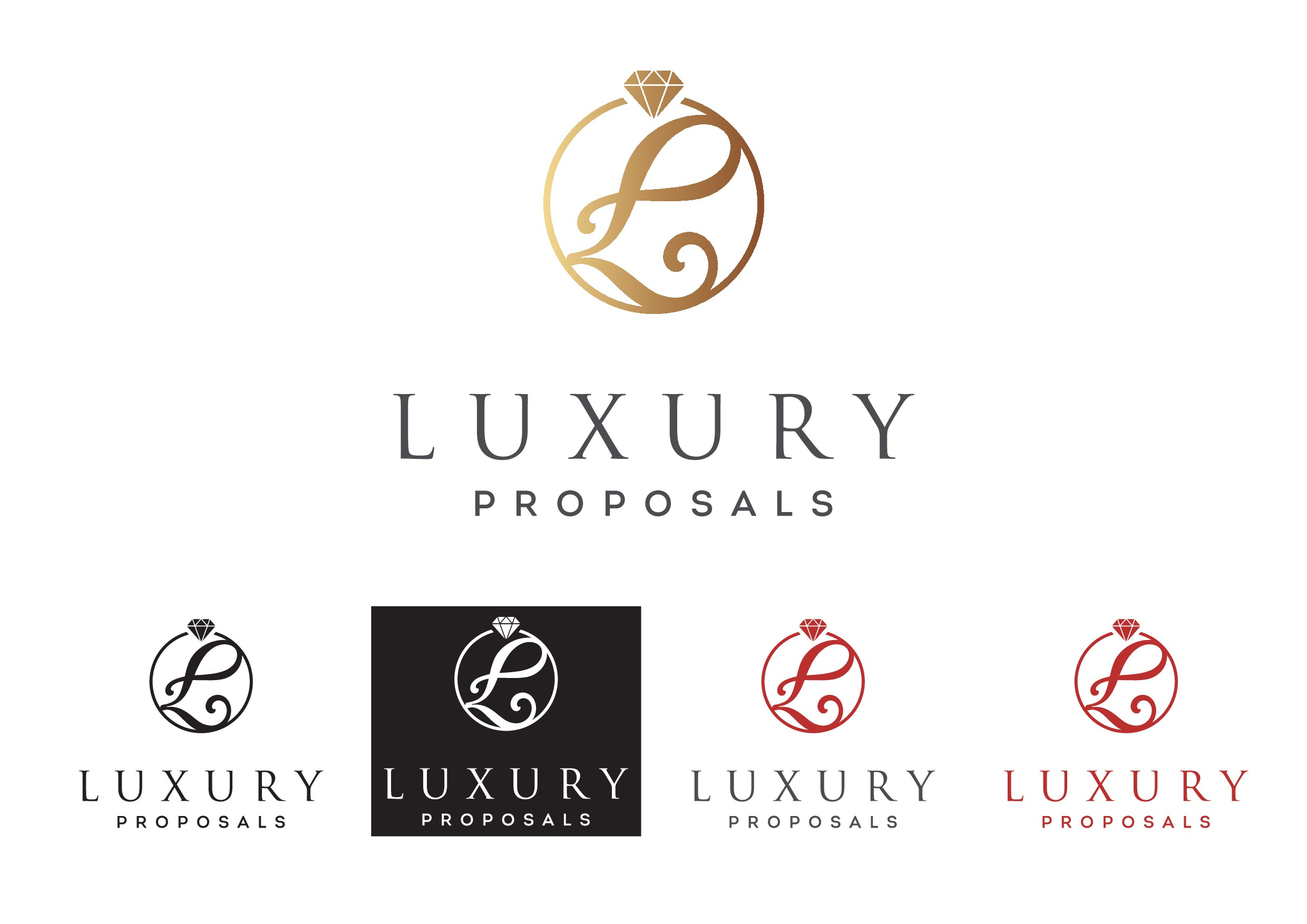 Luxurious & classy PROPOSAL business- white background/gold writing (please follow brief)