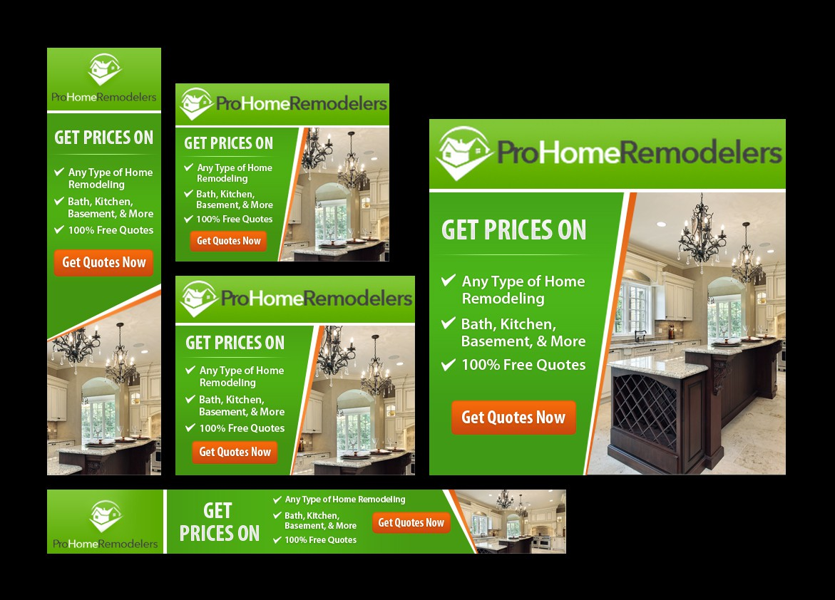 Create a cool banner ad for a home remodeling company!