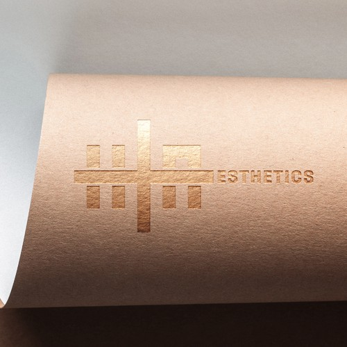 Modern logo for H+Aesthetics