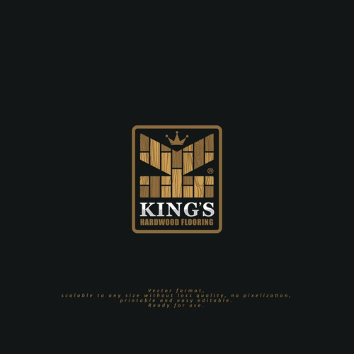 Logo for  KING'S Hardwood Flooring company