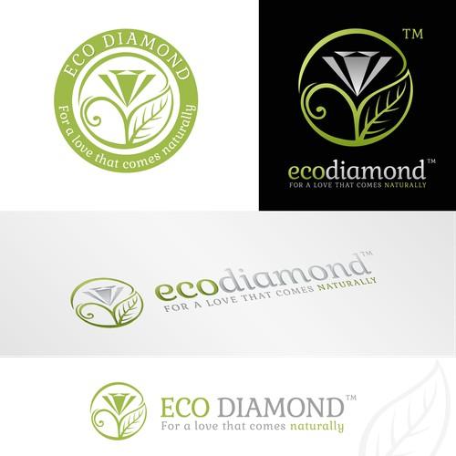 Create a logo for the new Eco-Diamond.com a revolutionary diamond site!