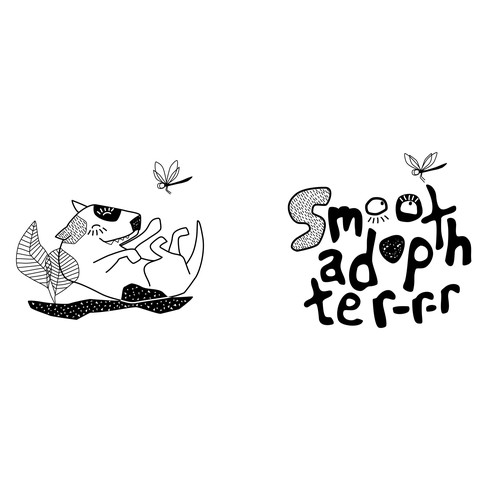 "concept logo and one picture  for brand identity ""Smooth Adopter"". Pet rescue with a spunky attitude"