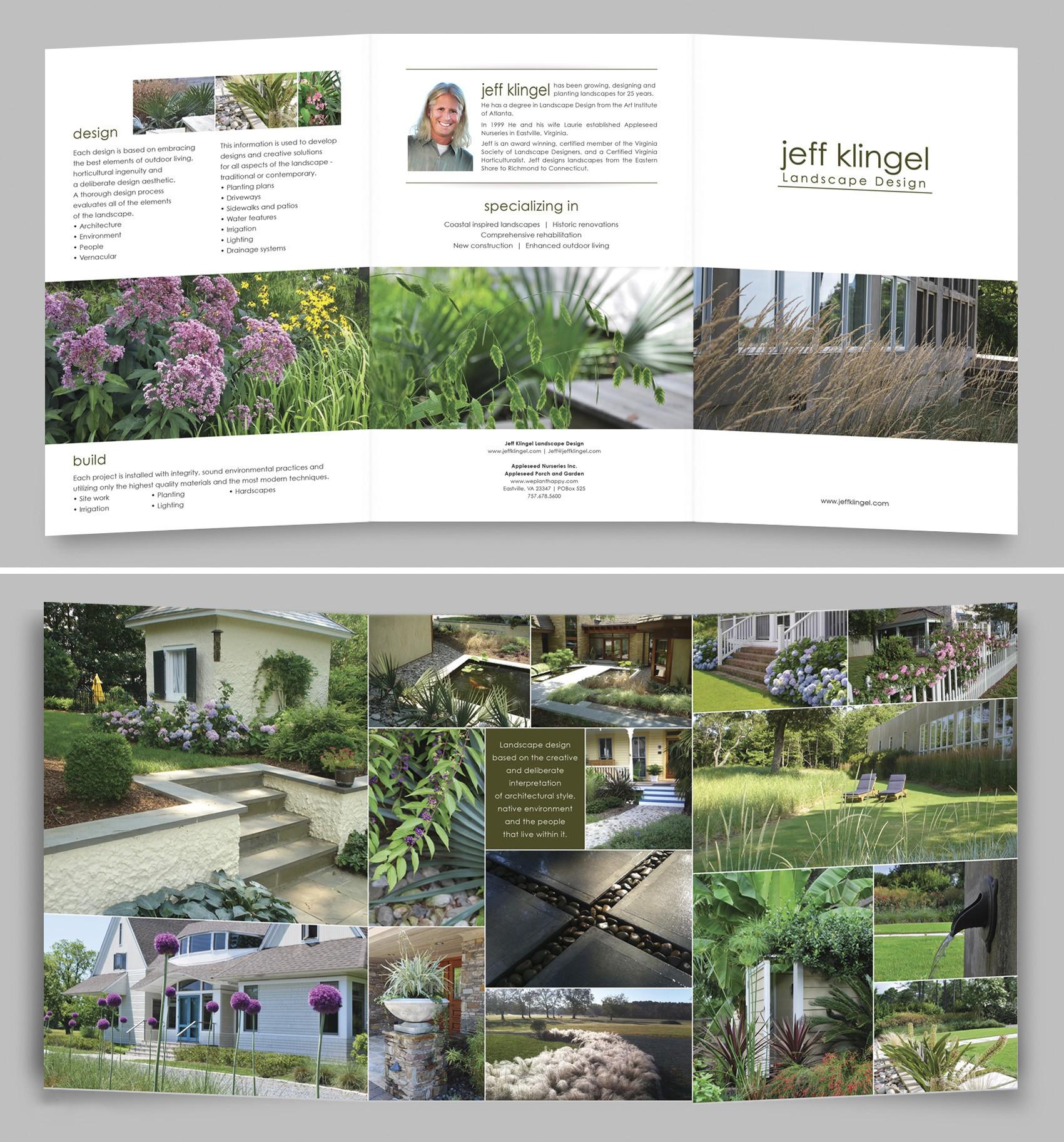 Landscape designer needs hi-end brochure