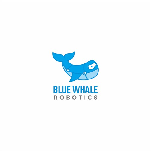 Logo for blue whale robot