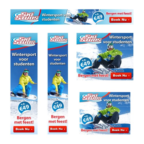 Ski and Winter Sport Banner Ads