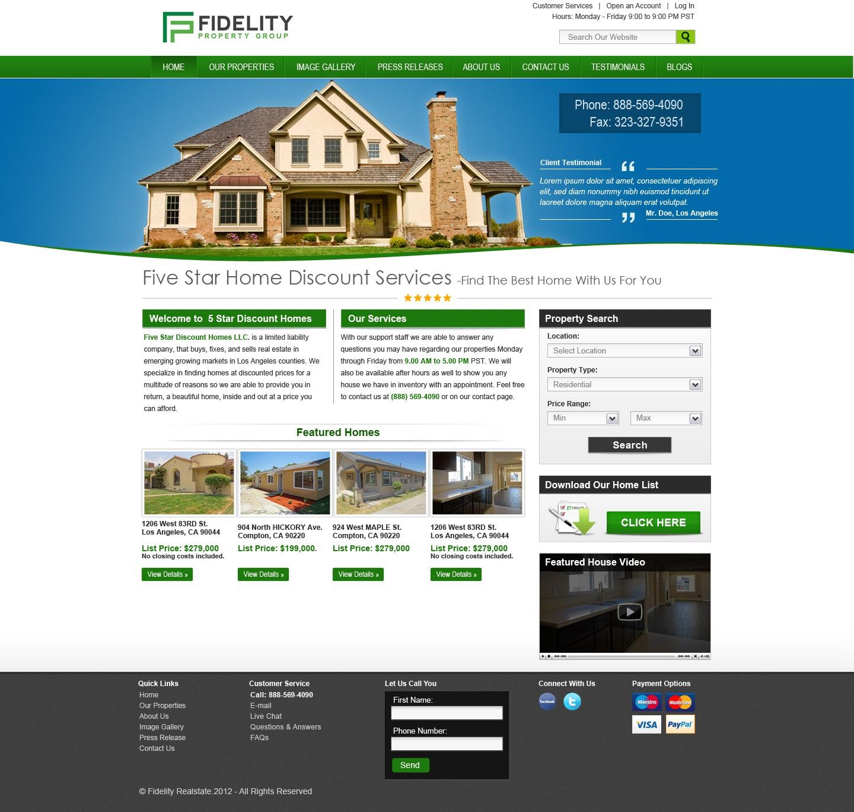Fidelity Property Group needs a new website design