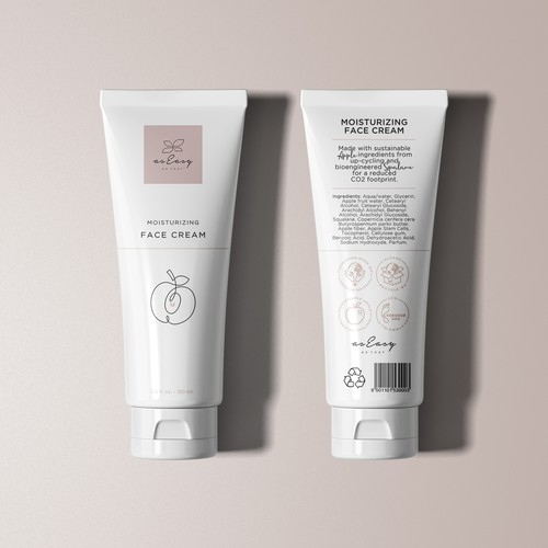 Tube design for a sustainable cosmetic brand