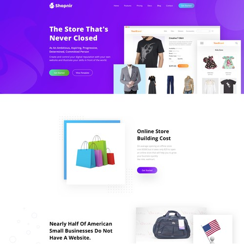 Landing page design for a agecy