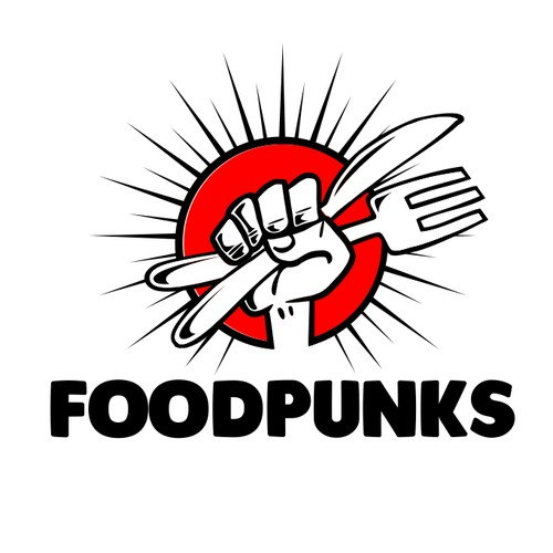 foodpunks logo design