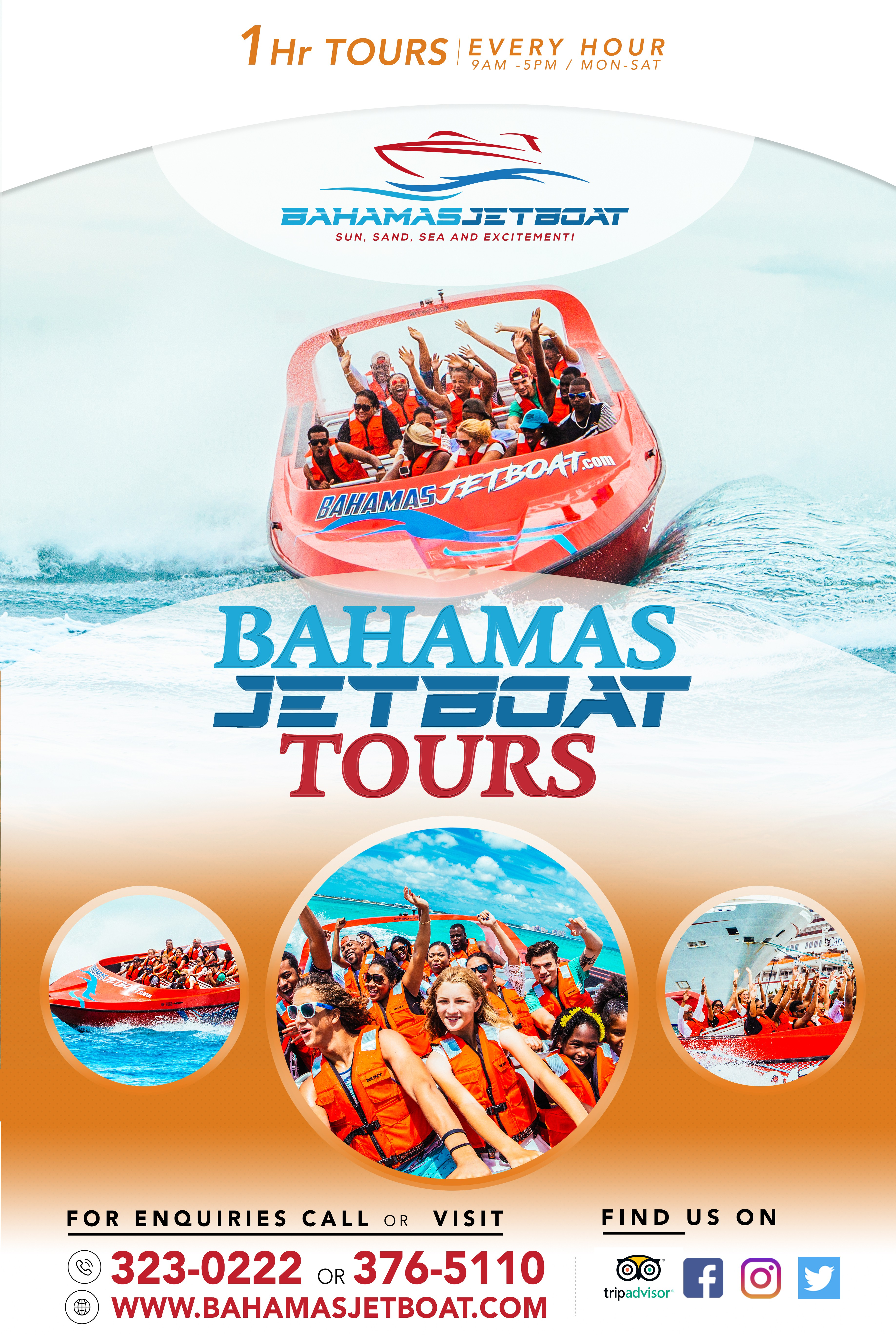 Design a unique and eye-catching sign for one of the newest attractions in Nassau, Bahamas