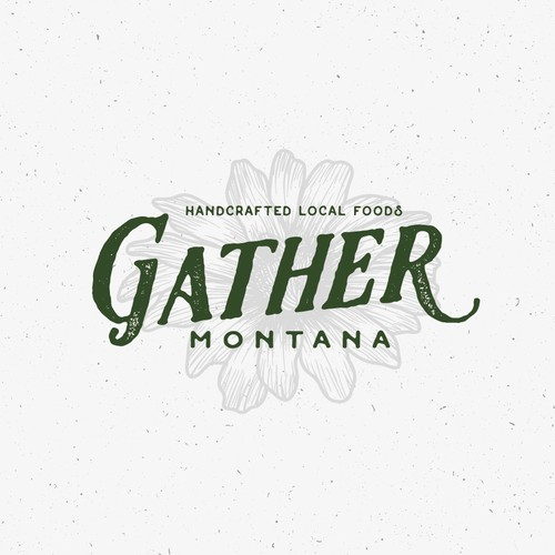 Hand-drawn logo for Gather Montana