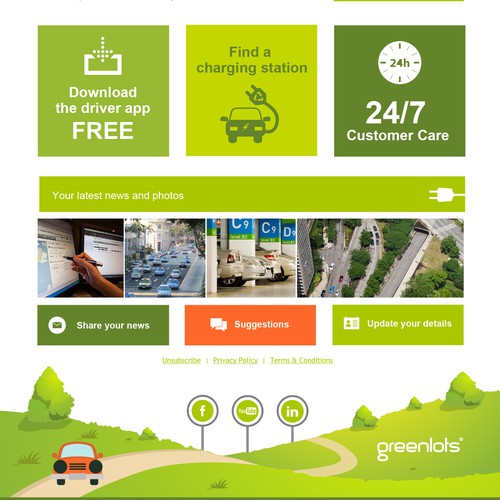 Email marketing template for Greenlots