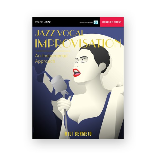 Jazz Singing Book Cover Illustration and Design for Berklee College of Music