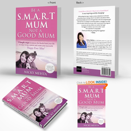 Create a self development book cover for mums