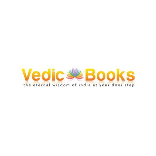 A peaceful logo for spiritual book store
