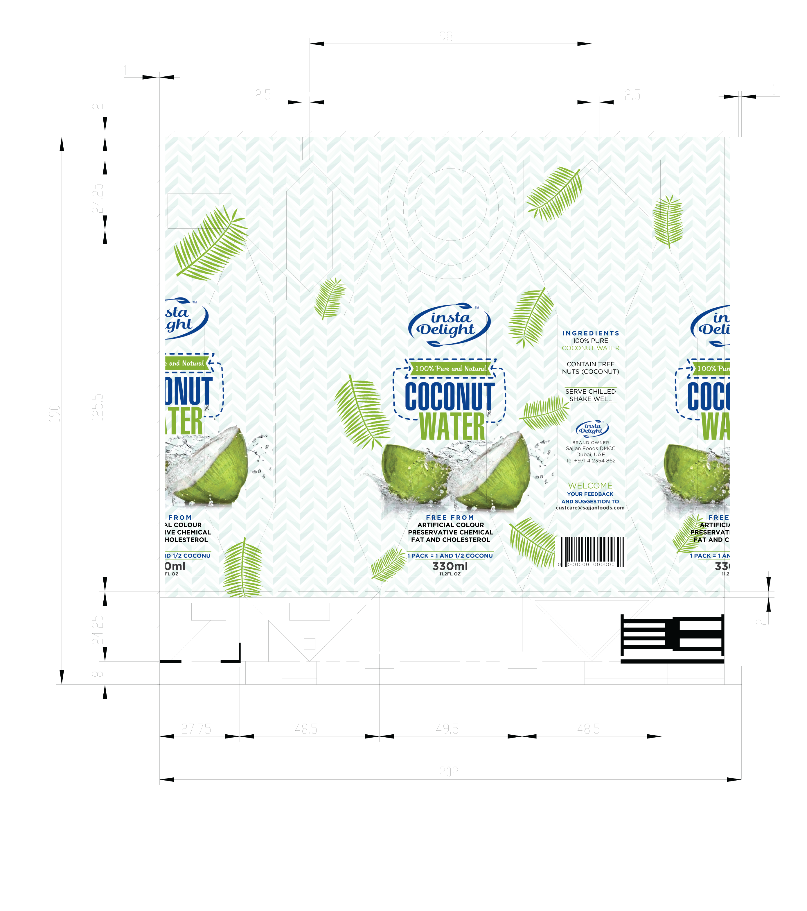 Design Tetra pack Label for Coconut water