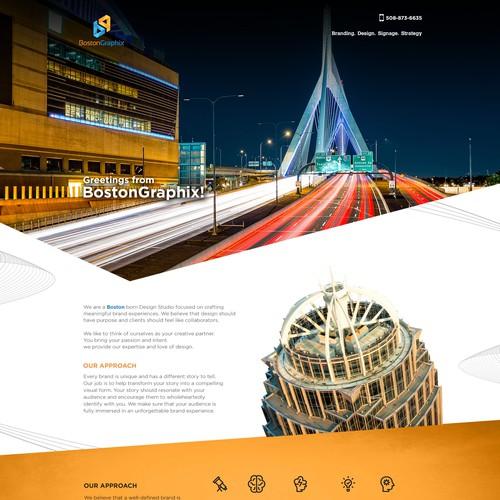Website Design for BostonGraphix