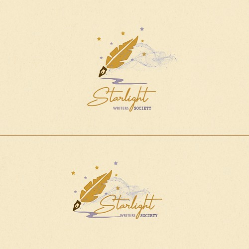 Dreamy logo design for Starlight Writers Society