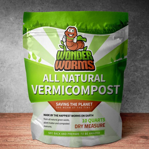 Package Design for Wonder Worms