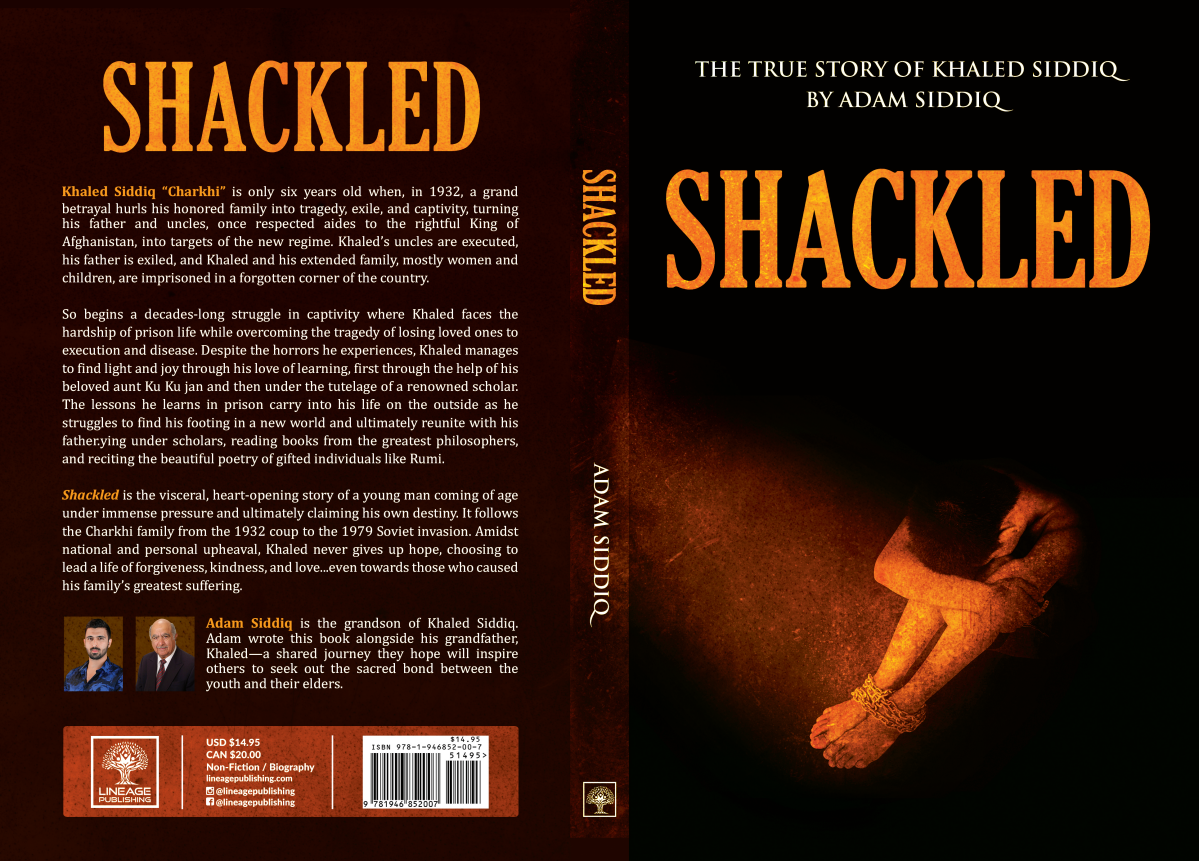 """Touch ups for """"Shackled"""" book cover"""