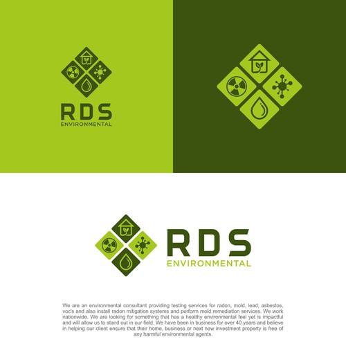 Bold logo concept for RDS Environmental..