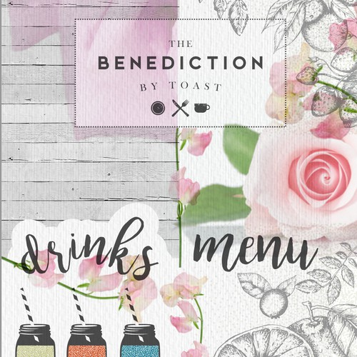 Shabby chic Menu for restaurant