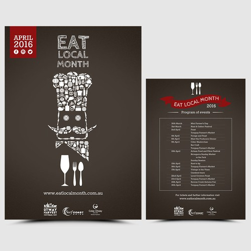 EAT LOCAL MONTH poster