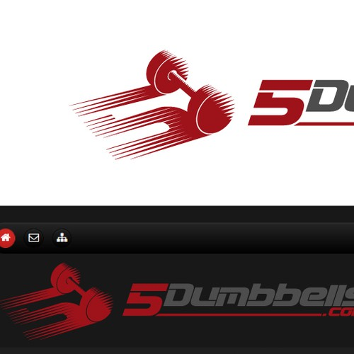 Logo for a fitness website.