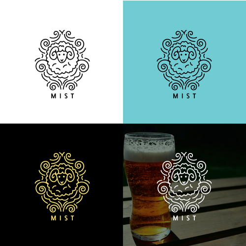 Modern logo for craft brewery
