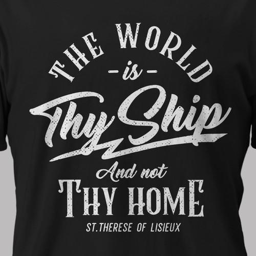 Vintage Typography T-shirt for Men