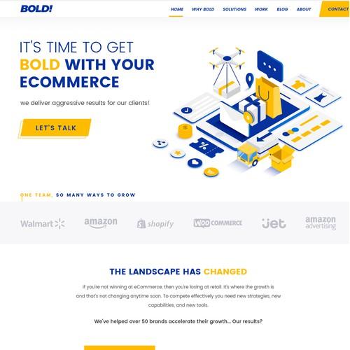 Bold web design for Bold Retail, Inc.