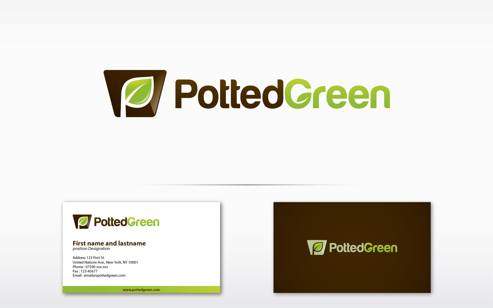 Design a winning logo for Potted Green