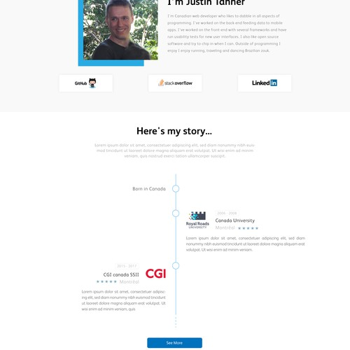 Design a personal business card website