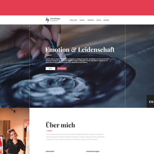 Webdesign far a german Artist