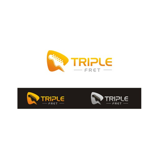 "Create a logo for ""Triple Fret,"" a musical group for high-end special events featuring 3 guitarists"