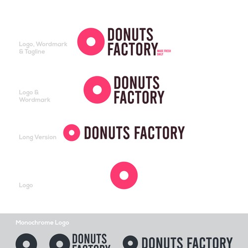 Logo system for Donuts Factory