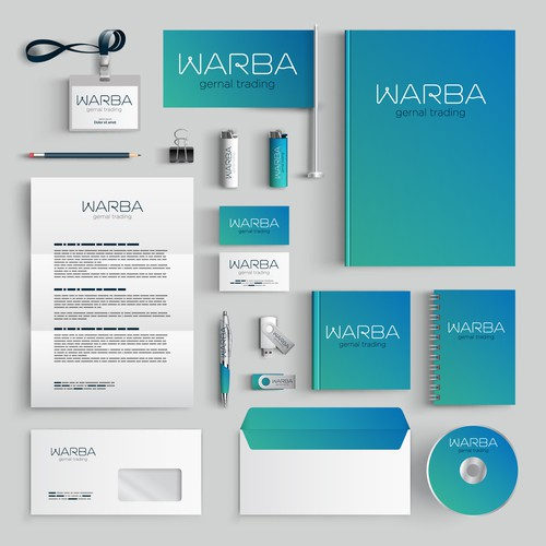 Logo concept and stationary development for Cosmetic trading Company