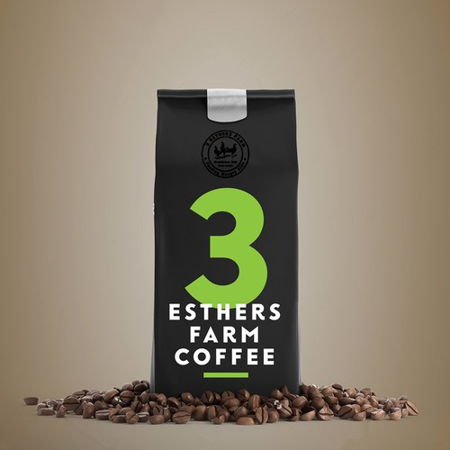 Bold design for coffee packaging