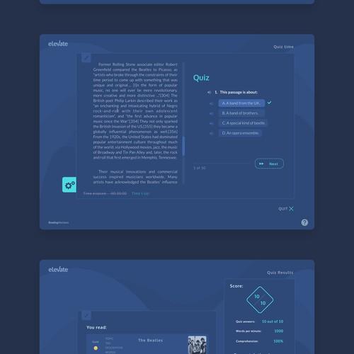 Redesign of desktop/tablet education platform (part2)