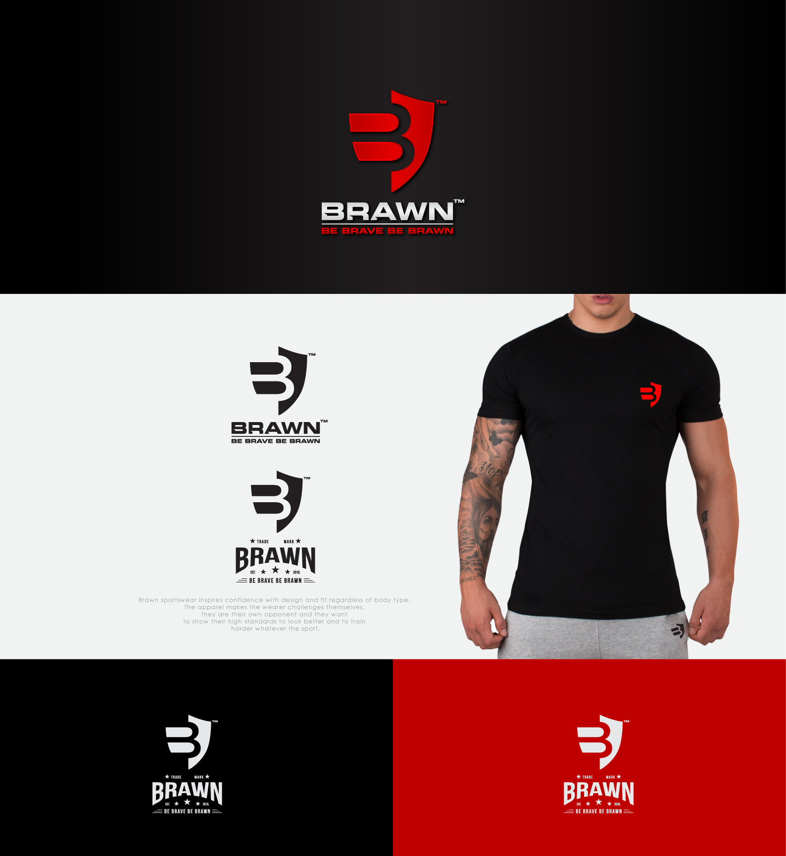 Project Title: Better than Under Armour. Create the new BRAWN sports logo