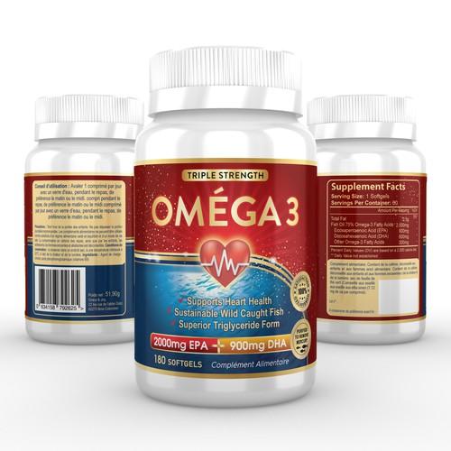 Omega Fish Oil Label Deisgn