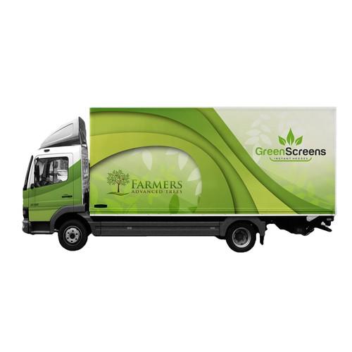 Green Screens Truck Wrap