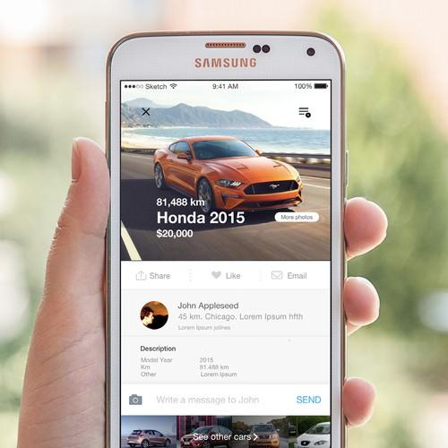 Car app design