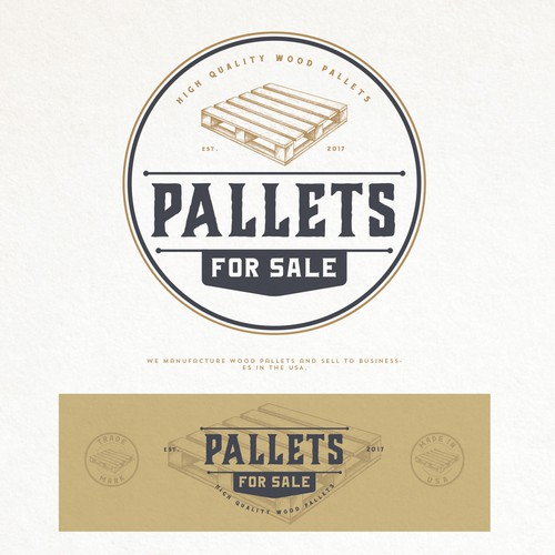 PALLETS FOR SALE LOGO DESIGN
