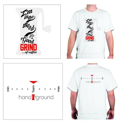 Design the Handground Coffee Grinder Special Edition Kickstarter T-Shirt