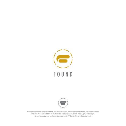 Bold logo concept for digital advertising